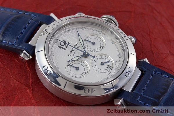 Used luxury watch Cartier Pasha chronograph steel automatic Kal. 205 Ref. 2113  | 160471 14