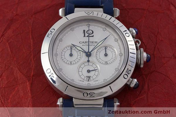 Used luxury watch Cartier Pasha chronograph steel automatic Kal. 205 Ref. 2113  | 160471 15