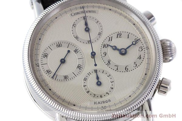 Used luxury watch Chronoswiss Kairos chronograph steel automatic Kal. 753 Ref. CH7523  | 160483 02