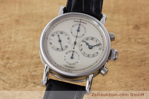 Used luxury watch Chronoswiss Kairos chronograph steel automatic Kal. 753 Ref. CH7523  | 160483 04