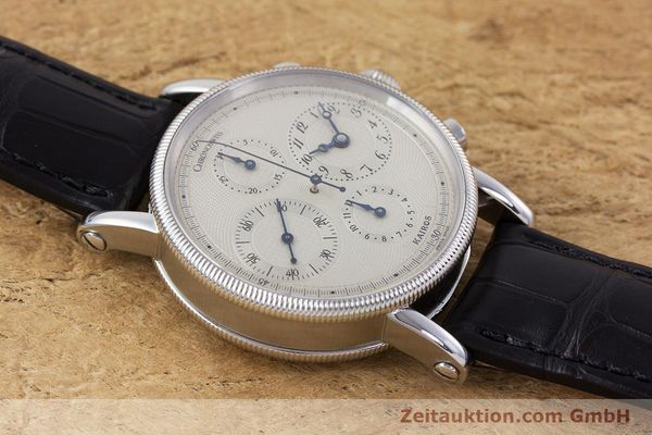 Used luxury watch Chronoswiss Kairos chronograph steel automatic Kal. 753 Ref. CH7523  | 160483 14