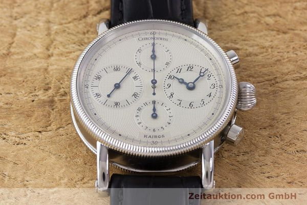 Used luxury watch Chronoswiss Kairos chronograph steel automatic Kal. 753 Ref. CH7523  | 160483 15