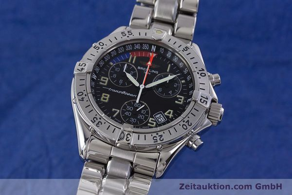 Used luxury watch Breitling Transocean chronograph steel quartz Kal. B53 ETA 251262 Ref. A53040.1  | 160521 04