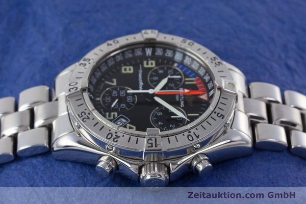 Used luxury watch Breitling Transocean chronograph steel quartz Kal. B53 ETA 251262 Ref. A53040.1  | 160521 05