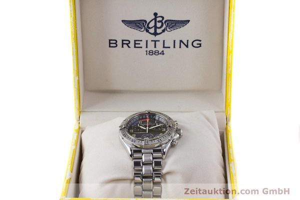Used luxury watch Breitling Transocean chronograph steel quartz Kal. B53 ETA 251262 Ref. A53040.1  | 160521 07