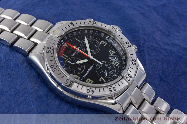 Used luxury watch Breitling Transocean chronograph steel quartz Kal. B53 ETA 251262 Ref. A53040.1  | 160521 13