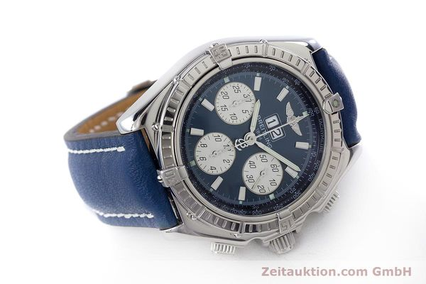 Used luxury watch Breitling Crosswind chronograph steel automatic Kal. B44 ETA 2892A2 Ref. A44355  | 160536 03