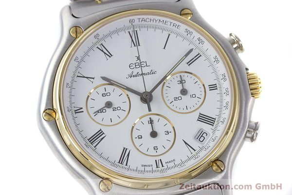 Used luxury watch Ebel 1911 chronograph steel / gold automatic Kal. 134 Ref. 1134901  | 160541 02