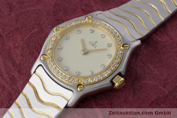 Used luxury watch Ebel Classic Wave steel / gold quartz Kal. 057 Ref. 1057902  | 160552 01