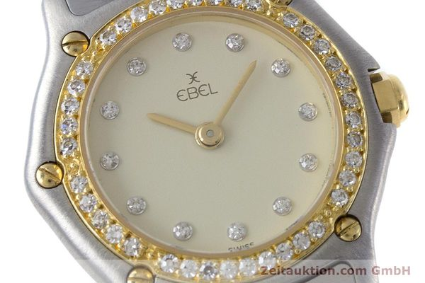 Used luxury watch Ebel Classic Wave steel / gold quartz Kal. 057 Ref. 1057902  | 160552 02