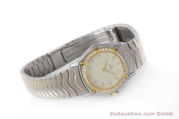 Used luxury watch Ebel Classic Wave steel / gold quartz Kal. 057 Ref. 1057902  | 160552 03