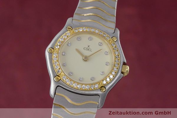 Used luxury watch Ebel Classic Wave steel / gold quartz Kal. 057 Ref. 1057902  | 160552 04