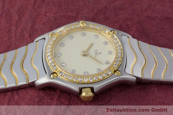 Used luxury watch Ebel Classic Wave steel / gold quartz Kal. 057 Ref. 1057902  | 160552 05