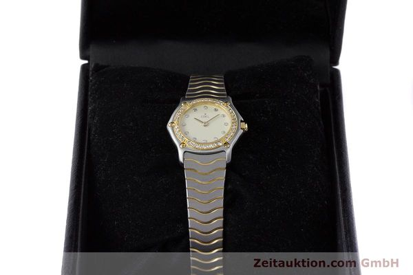 Used luxury watch Ebel Classic Wave steel / gold quartz Kal. 057 Ref. 1057902  | 160552 07