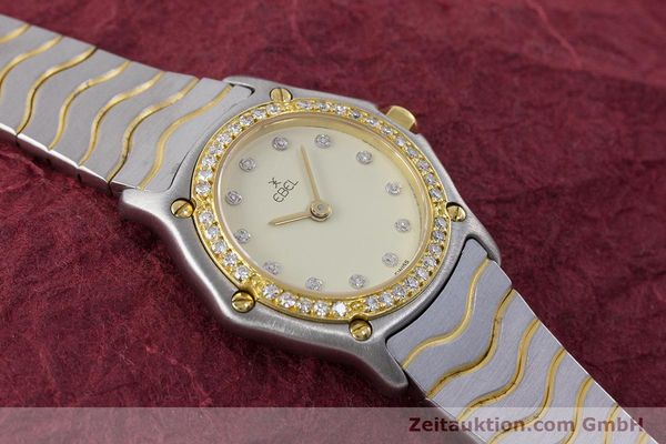 Used luxury watch Ebel Classic Wave steel / gold quartz Kal. 057 Ref. 1057902  | 160552 12