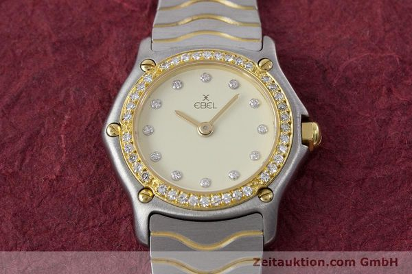 Used luxury watch Ebel Classic Wave steel / gold quartz Kal. 057 Ref. 1057902  | 160552 13