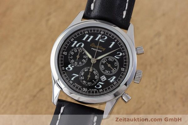 Used luxury watch Breitling Premier chronograph steel automatic Kal. B42 ETA 2892A2 Ref. A42035  | 160561 04