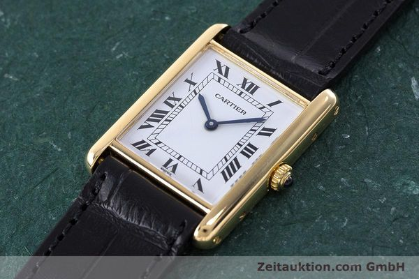 Used luxury watch Cartier Tank 18 ct gold quartz Kal. 81  | 160606 01