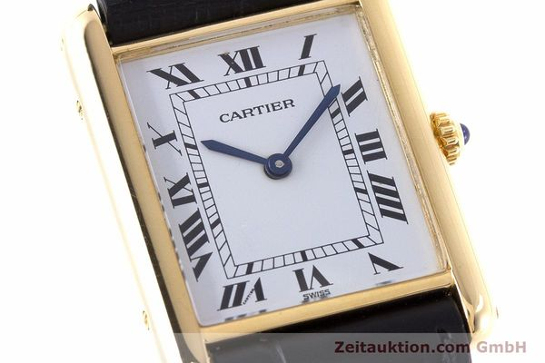 Used luxury watch Cartier Tank 18 ct gold quartz Kal. 81  | 160606 02