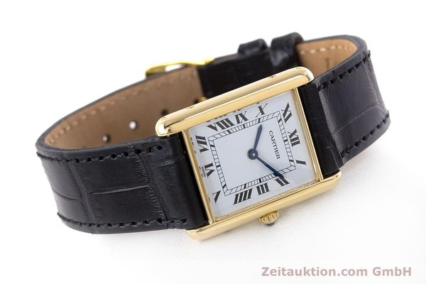 Used luxury watch Cartier Tank 18 ct gold quartz Kal. 81  | 160606 03