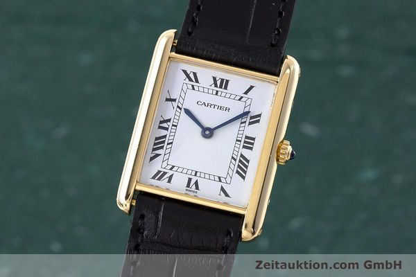 Used luxury watch Cartier Tank 18 ct gold quartz Kal. 81  | 160606 04
