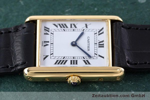 Used luxury watch Cartier Tank 18 ct gold quartz Kal. 81  | 160606 05