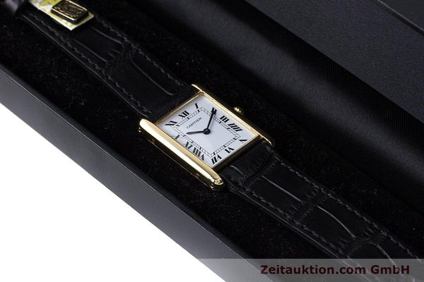 Used luxury watch Cartier Tank 18 ct gold quartz Kal. 81  | 160606 07