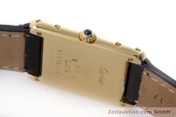 Used luxury watch Cartier Tank 18 ct gold quartz Kal. 81  | 160606 08