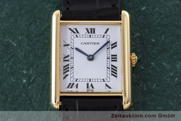 Used luxury watch Cartier Tank 18 ct gold quartz Kal. 81  | 160606 12