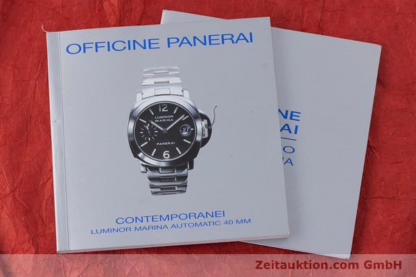 Used luxury watch Panerai Luminor Marina steel automatic Kal. A 05511 Ref. OP6560  | 160609 12