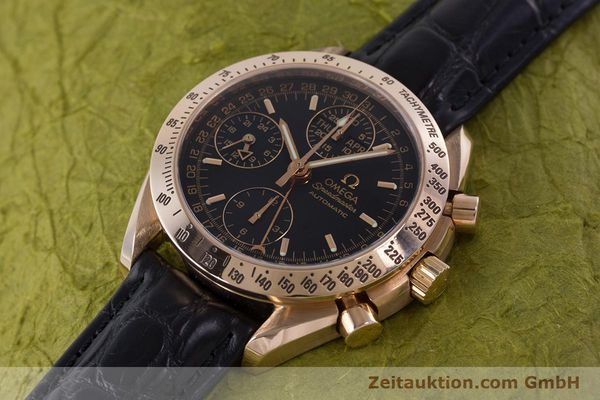 Used luxury watch Omega Speedmaster chronograph 18 ct red gold automatic Kal. 1151  | 160619 01