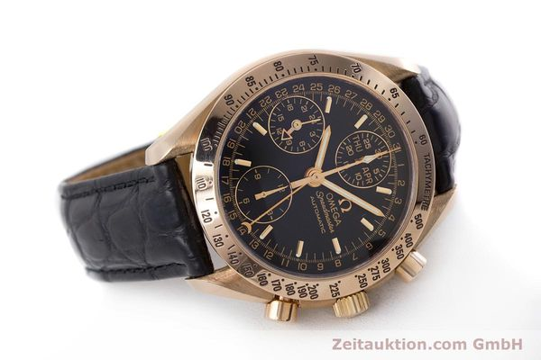 Used luxury watch Omega Speedmaster chronograph 18 ct red gold automatic Kal. 1151  | 160619 03