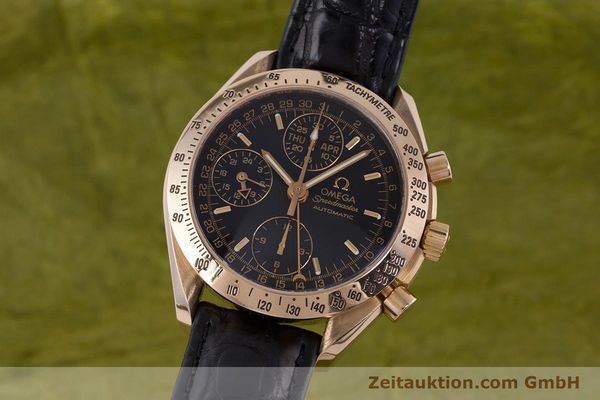 Used luxury watch Omega Speedmaster chronograph 18 ct red gold automatic Kal. 1151  | 160619 04