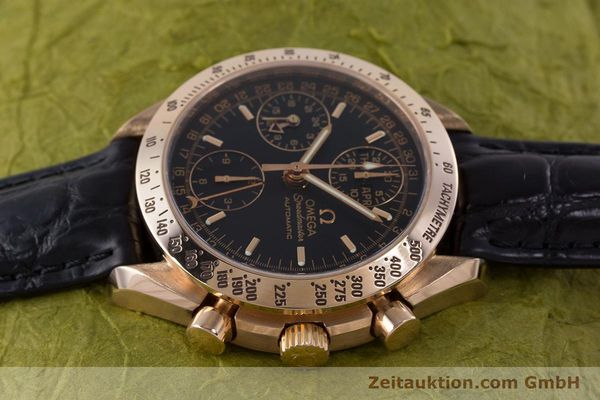 Used luxury watch Omega Speedmaster chronograph 18 ct red gold automatic Kal. 1151  | 160619 05