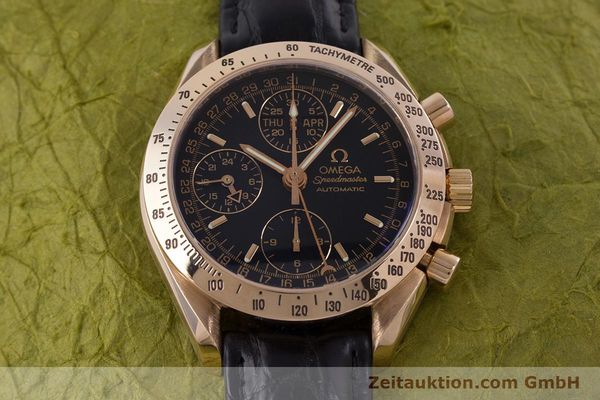 Used luxury watch Omega Speedmaster chronograph 18 ct red gold automatic Kal. 1151  | 160619 16