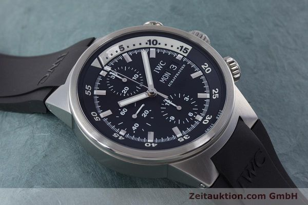 Used luxury watch IWC Aquatimer chronograph steel automatic Kal. 79320 Ref. 3719  | 160633 15