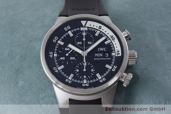 Used luxury watch IWC Aquatimer chronograph steel automatic Kal. 79320 Ref. 3719  | 160633 16
