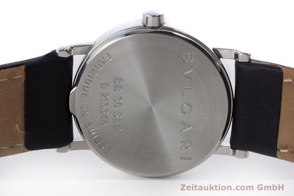 Used luxury watch Bvlgari Bvlgari steel quartz Kal. MVE002-MBBL Ref. BB30SLD  | 160705 09