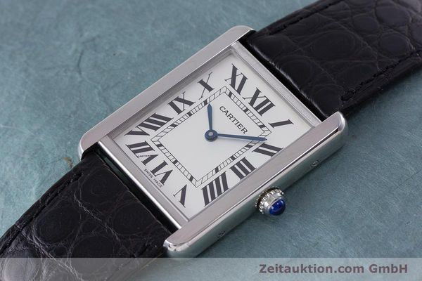 Used luxury watch Cartier Tank steel quartz Kal. 690 Ref. 2715  | 160758 01