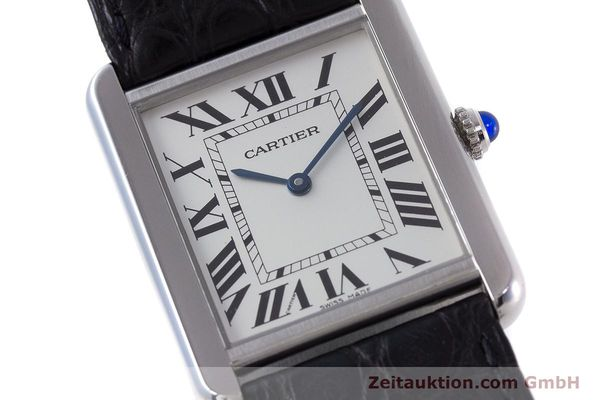 Used luxury watch Cartier Tank steel quartz Kal. 690 Ref. 2715  | 160758 02