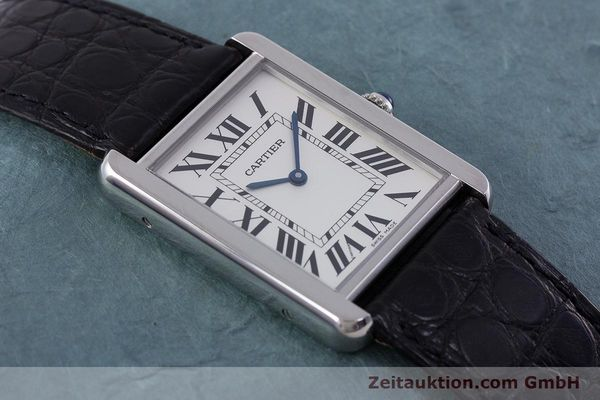 Used luxury watch Cartier Tank steel quartz Kal. 690 Ref. 2715  | 160758 12