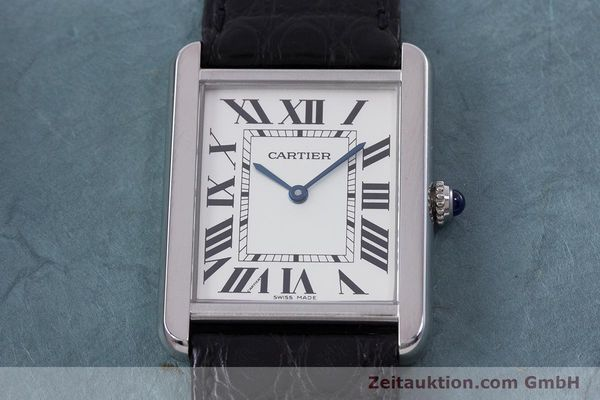 Used luxury watch Cartier Tank steel quartz Kal. 690 Ref. 2715  | 160758 13
