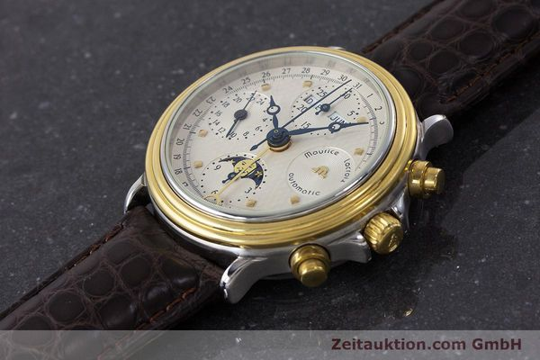Used luxury watch Maurice Lacroix Phase de Lune  chronograph steel / gold automatic Kal. Valj. 7750 LIMITED EDITION | 160786 01