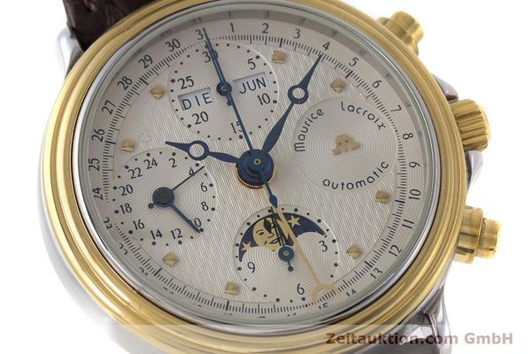 Used luxury watch Maurice Lacroix Phase de Lune  chronograph steel / gold automatic Kal. Valj. 7750 LIMITED EDITION | 160786 02