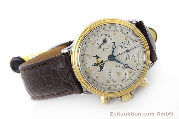 Used luxury watch Maurice Lacroix Phase de Lune  chronograph steel / gold automatic Kal. Valj. 7750 LIMITED EDITION | 160786 03