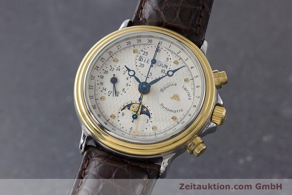 Used luxury watch Maurice Lacroix Phase de Lune  chronograph steel / gold automatic Kal. Valj. 7750 LIMITED EDITION | 160786 04