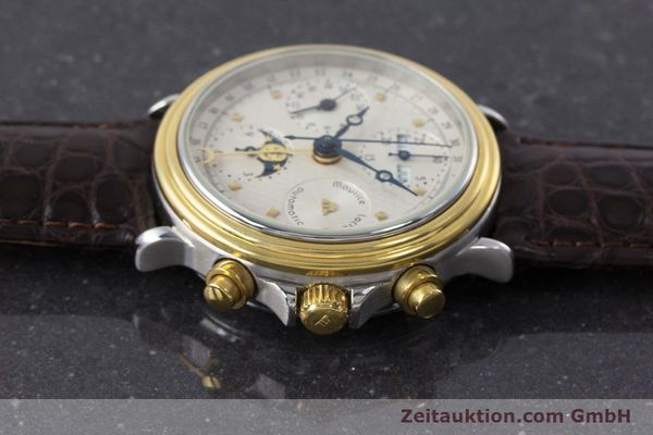 Used luxury watch Maurice Lacroix Phase de Lune  chronograph steel / gold automatic Kal. Valj. 7750 LIMITED EDITION | 160786 05