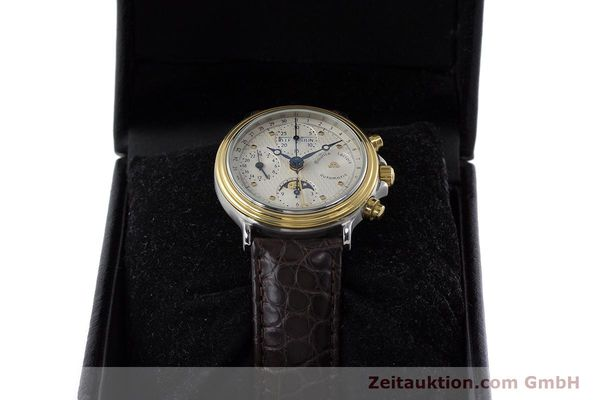 Used luxury watch Maurice Lacroix Phase de Lune  chronograph steel / gold automatic Kal. Valj. 7750 LIMITED EDITION | 160786 07
