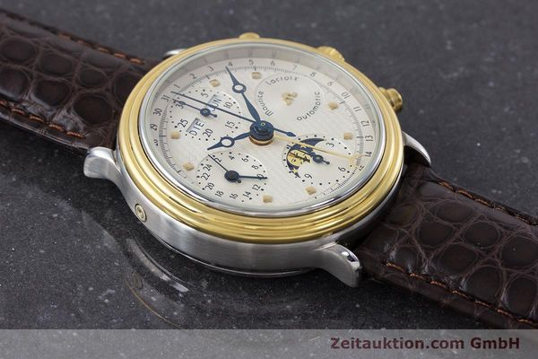 Used luxury watch Maurice Lacroix Phase de Lune  chronograph steel / gold automatic Kal. Valj. 7750 LIMITED EDITION | 160786 13