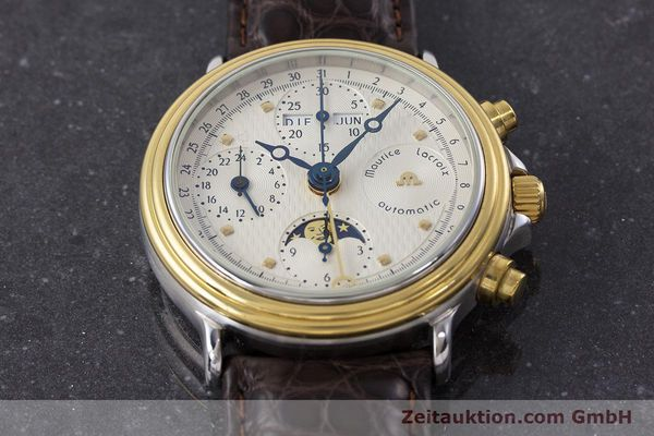 Used luxury watch Maurice Lacroix Phase de Lune  chronograph steel / gold automatic Kal. Valj. 7750 LIMITED EDITION | 160786 14